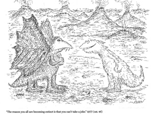 Ed Koren cartoon of dinosaurs