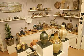 Clayworks' pottery showroom
