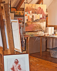 Paul Stone's art studio