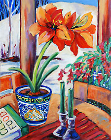 Orange Amaryllis by Carol Keiser