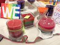 Assorted candles for sale