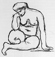 Sketch by Maillol