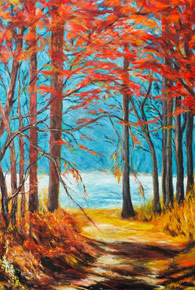 Autumn oil painting by Sylvia Ryder