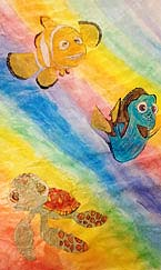 Undersea painting by Fiona, 8th grade