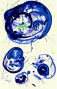 Painting by Sam Francis