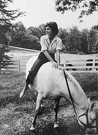 Photo of Jackie on her horse by Mark Shaw