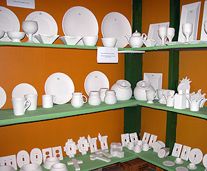An array of unfinished pottery