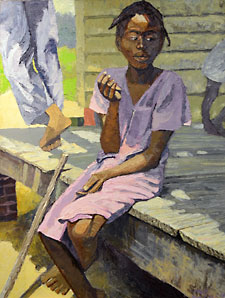 Girl on porch by Dane Tilghman