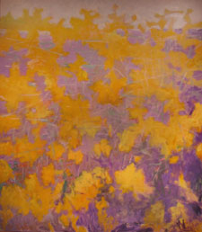 Big Yellow and Violet Painting